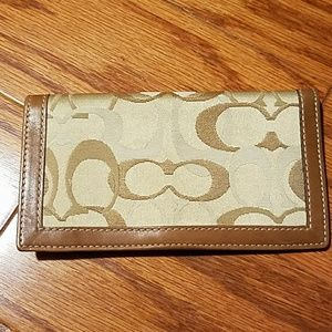 Coach checkbook cover
